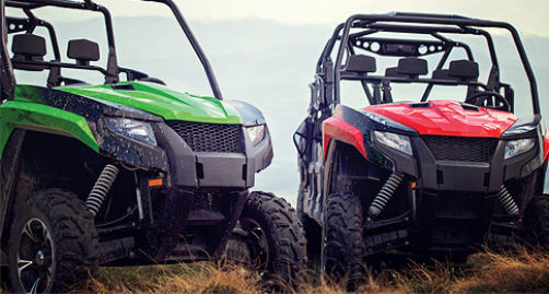 Green and Red ATV