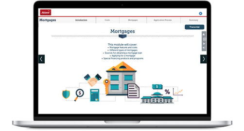 Image of Mortgage Lesson on laptop