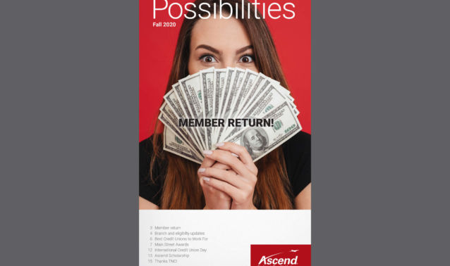 Fall 2020 Possibilities Newsletter Cover