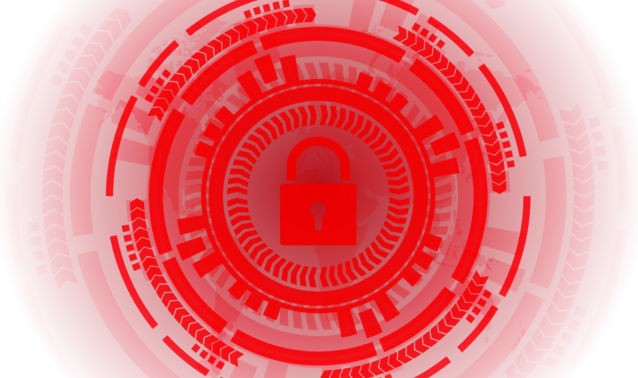 Red Lock With Data Circles