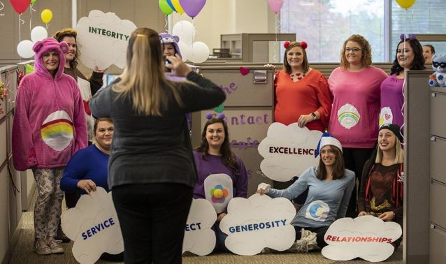Employee costume party