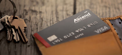 Ascend visa debit card in wallet