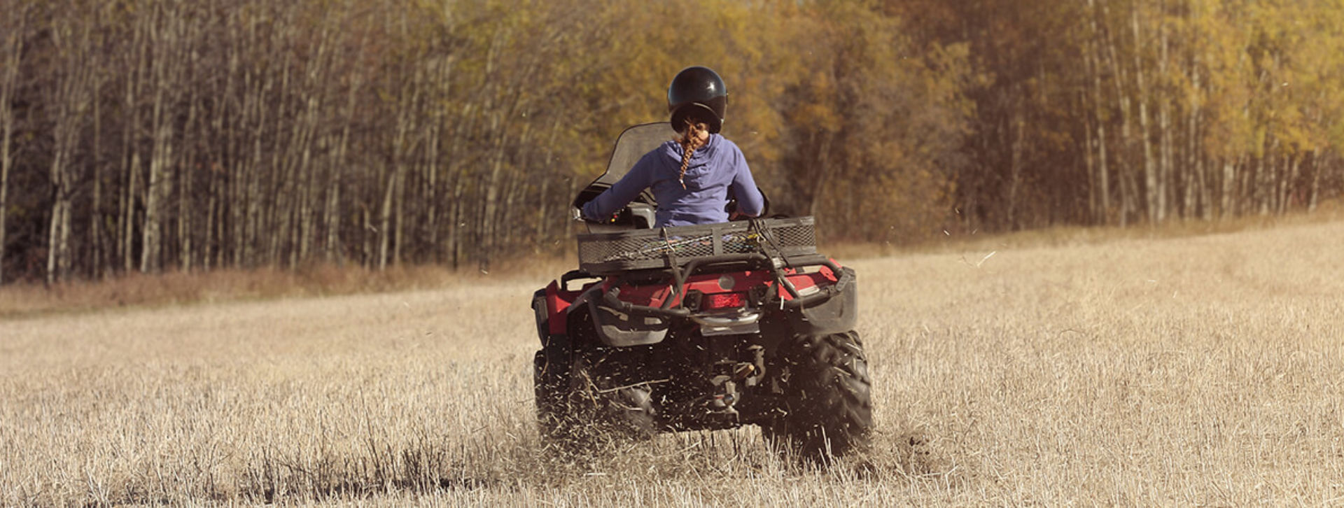 Woman on an ATV