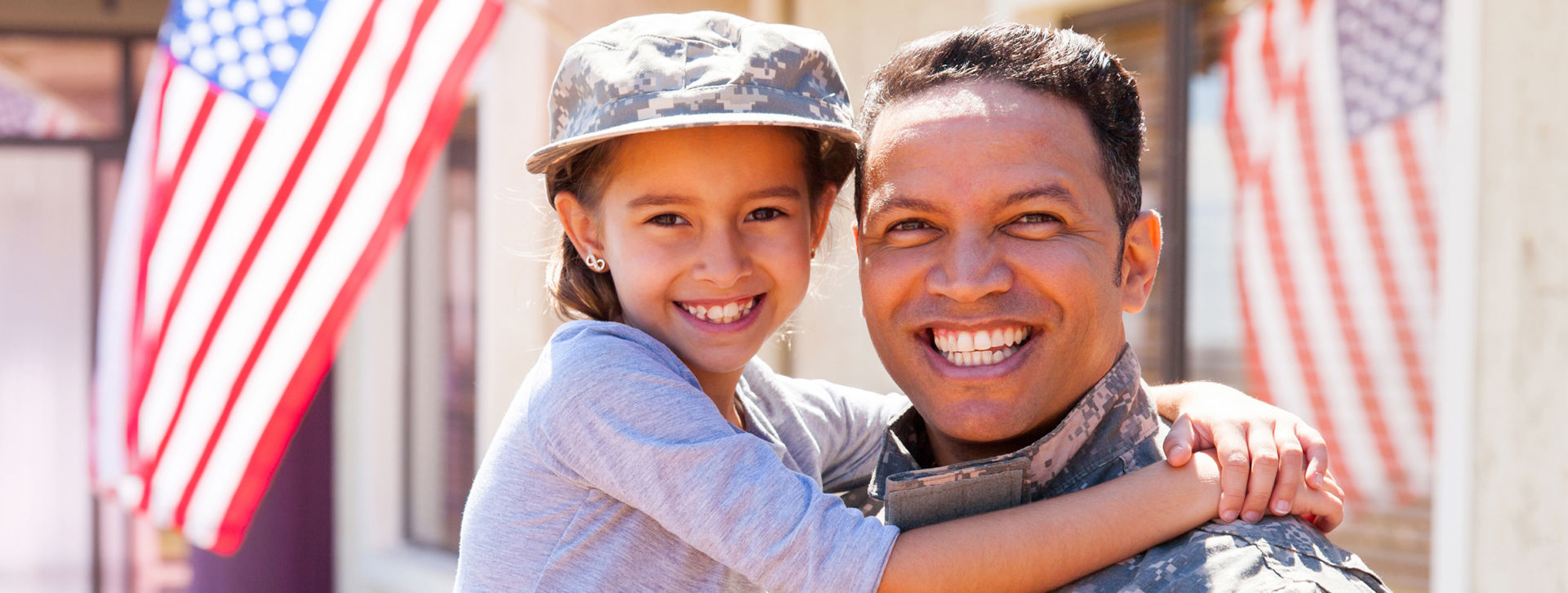 Military Father With Daughter